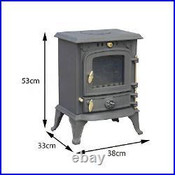 Royal Fire cast iron wood burning stove 5.5kw 100685