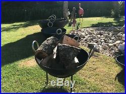 Rustic Kadai Fire Pit BBQ Wood Burner Garden Stove Planter Pot S M L XL or XXL
