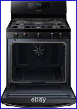 Samsung NX58M5600SB 30 Inch Freestanding Gas Range with Convection Oven