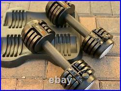 Set of 25-lb Adjustable Dumbbells 2 x 12.5-lb each range of 5.5 lb to 12.5 lb