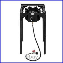 Single Burner Outdoor Camp Stove High Pressure Propane Gas Cooker Portable Patio
