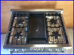 Thermador 36 Pro Harmony Range All Nat Gas With Griddle Prg364edh