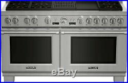 Thermador 60 SS Pro Grand Dual Fuel Range withGrill & Griddle PRD606RCG