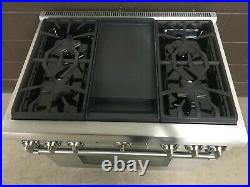 Thermador PRD364GDHU 36 PRO Dual Fuel Range Oven 4 Burner + Griddle