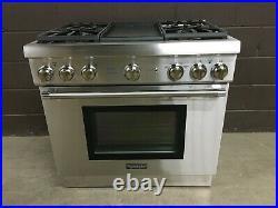Thermador PRG364GDH 36 PRO-Harmony All Gas Range Oven 4 Burner + Griddle