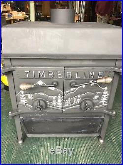 Timberline Wood Burning Stove cast iron freestanding brick lined ceramic baffle