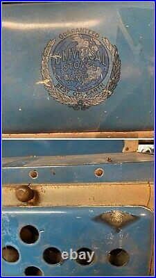 UNIVERSAL CRIBBEN & SEXTON Coal & Gas Cast Iron Wood Stove & Range Early 1900s