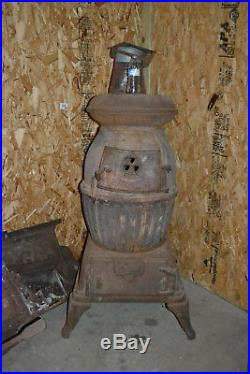 US Army Cannon Heater #20 Wood/Coal Potbelly Stove Cast Iron