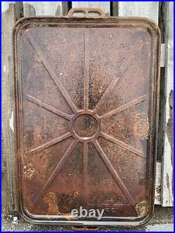U. S. Gray & Dudley Wwii Vintage 1942 Army Range Cast Iron Griddle Pan 21 X 35