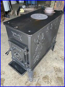Ulefos 865 Classic Cast Iron Wood Burning Stove Black Enamel Top/Rear Flue Exit