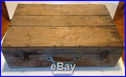 VINTAGE 1920-30's Cast Iron 2 BURNER GAS STOVE Table Top Camping With Wood Box