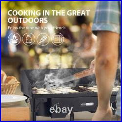 VIVOHOME Double Burner Grill Gas Propane Cooker Outdoor Camping Stove Stand BBQ