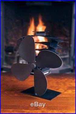 Valiant Premium 4 Heat Powered Log Burner Stove Fan FIR361