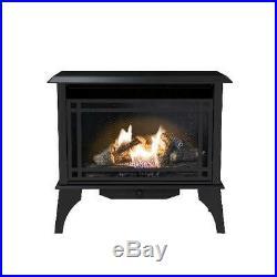 Vent Free Gas Stove Heater Propane Cast Iron Fireplace Free Standing 30,000 BTU