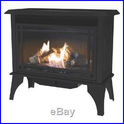Vent Free Gas Stove Heater Propane Cast Iron Fireplace Free Standing Dual Burner