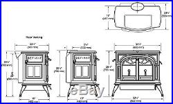 Vermont Castings DEFIANT Non-Catalytic/ Catalytic (2 IN 1) 1975 wood stove NEW