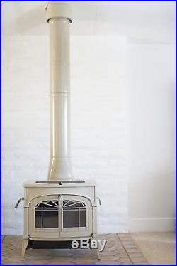Vermont Castings Defiant Encore Wood Burning Stove, Biscuit White, Gently Used