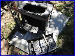 Vermont Castings Intrepid II Wood Burning Stove Catalytic Black Cast Iron