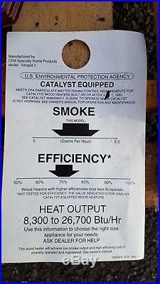 Vermont Castings Intrepid II Wood Stove Catalytic Burning $345 SAVINGS