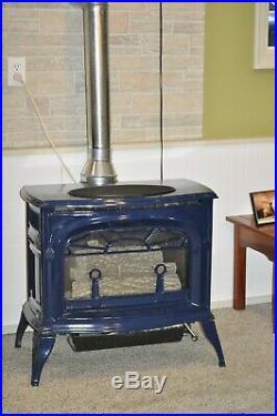 Vermont Castings Radiance - Direct Vent Propane Stove, Cobalt blue