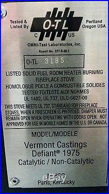 Vermont Castings Wood Burning Stove Defiant Flexburn Cast Iron Free Standing