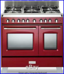 Verona Classic Series VCLFSGE365DR 36 Pro-style 5 Burner Red Dual Fuel Range