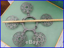 Very Rare Antique Hotel Kitchen Wood Stove Cast Iron Trivet Tree Rack Pies Pans
