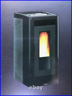 Vicenza Pellet Stove V5.2K Black by Extraflame S. P. A. IRS 26% Tax Credit