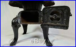 Victorian Bonny Oak Cast Iron Wood Stove By Warren Co. Milwaukee No. 209 Vintage