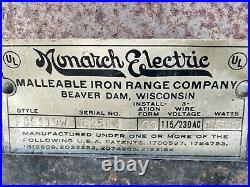 Vintage 1950s Monarch Electric-Coal-Wood Range/Oven (Model FCE119W)