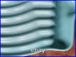 Vintage 1950s Turquoise Le Creuset Tostador Raymond Loewy Stove Top Grill Pan