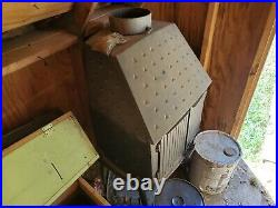 Vintage 1978 Morso 1125 cast Iron wood stove in the orignal cast iron near mint