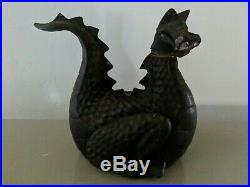 Vintage 1982 Gates General Cast Iron Dragon Wood Stove Top Steam Humidifier