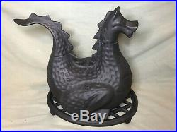 Vintage 1982 Gates General Cast Metal Dragon Stove Top Humidifier Steamer Withbase