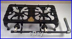 Vintage Antique GRISWOLD Cast Iron GAS Double Burner Cook Stove Model 202