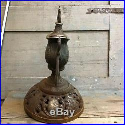 Vintage Antique Ornate Cast Iron Wood Stove Finial, Parlor Stove Finial Top