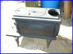 Vintage Box King No. 26 Cast Iron wood Stove 2 burner NOS $195