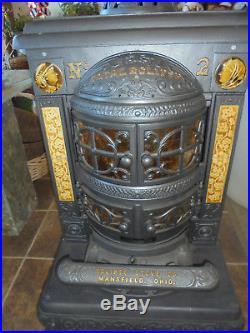 Vintage Cast Iron Parlor Stove Restored/burns Gas