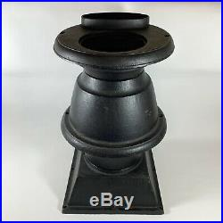 Vintage Cast Iron Pot Belly Atlanta Stove Works Parts Incomplete Potbelly Stove