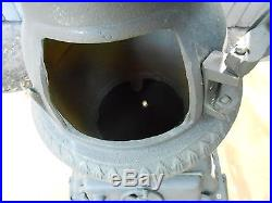 Vintage Cast Iron Pot Belly Stove