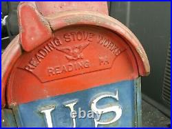 Vintage Cast Iron US Postal Mail Box Reading Stove Works US Post Office Letter