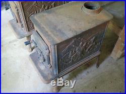 Vintage Cast Iron Wood Burning Stove