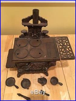 Vintage Crescent Cast Iron Stove Salesman Sample