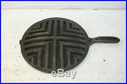 Vintage Erie Pre Griswold Cast Iron Round Broiler Skillet Top Stove Oven