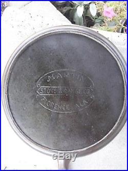 Vintage Martin Stove & Range Co #8 Double Skillet / Chicken Fryer 1930's-40's