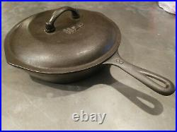 Vintage Martin Stove and Range #8 Cast Iron Skillet with Lid Drip Cover Frying Pan