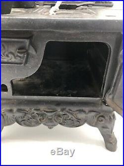 Vintage Miniature Crescent Cast Iron Stove, Salesman Sample, Toy, USA