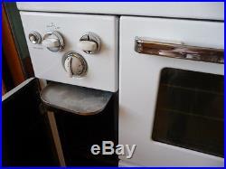 Vintage NORGE Porcelain Cast Iron Gas STOVE RANGE