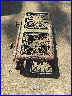 Vintage Original Two Burner Cast Iron Cooktop Gas Stove Erie, PA. Rare. Eriez