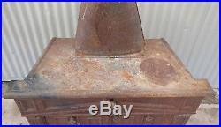Vintage Round Cast Iron Wood Stove